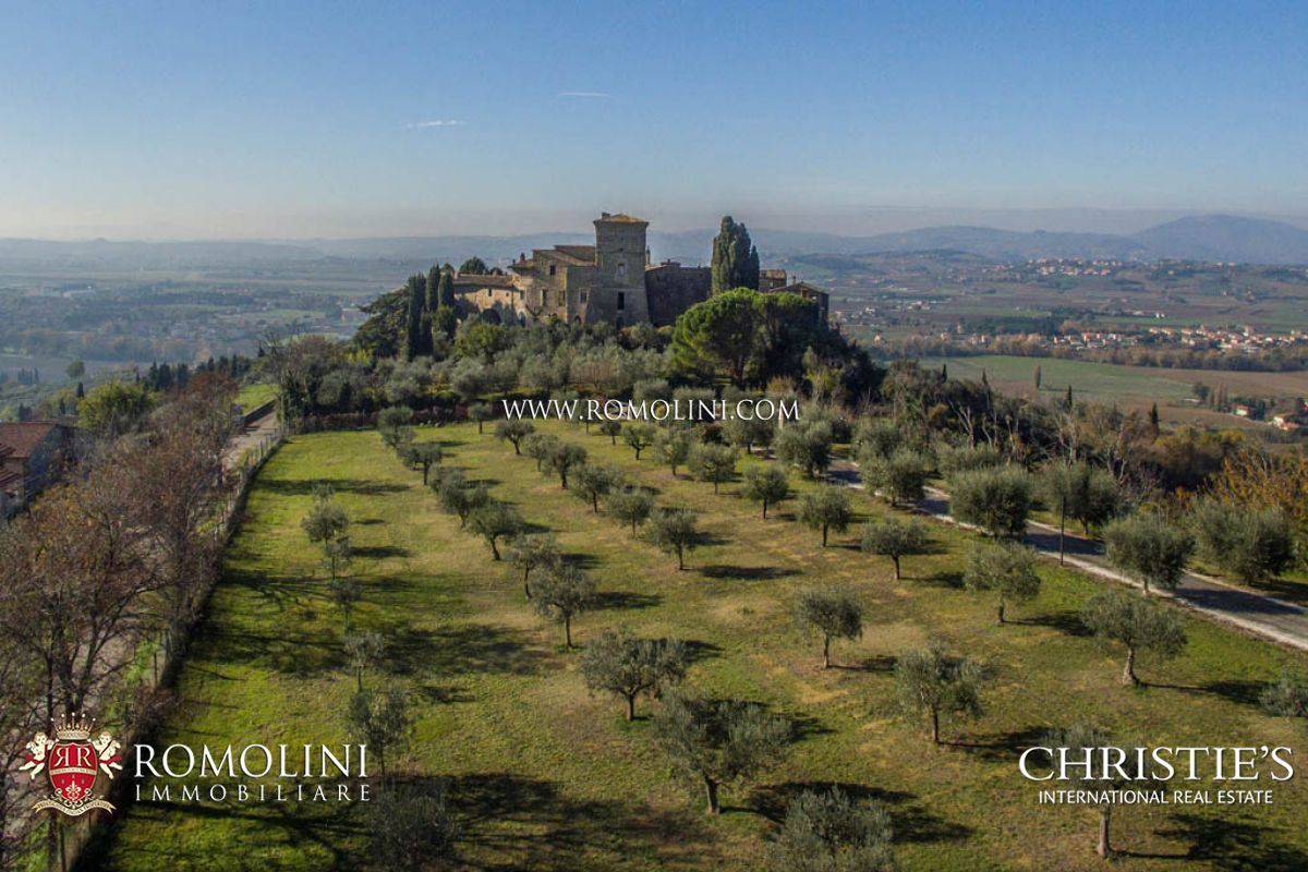 Tek Ailelik Ev için Satış at Umbria - CASTLE WITH OLIVE GROVE FOR SALE, UMBRIA Assisi, Italya