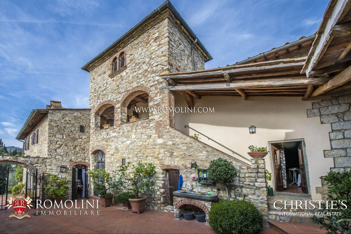 Single Family Home for Sale at Tuscany - GREVE IN CHIANTI: STONE HOUSE WITH OLIVE GROVE FOR SALE Greve In Chianti, Italy