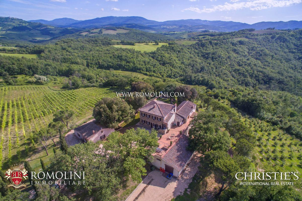 Apartments / Residences for Sale at Tuscany - TUSCANY WINE ESTATE WITH LUXURY VILLA AND WINERY FOR SALE Casole D Elsa, Italy