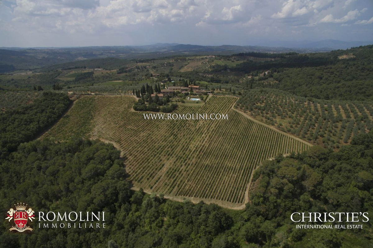 Wijngaard voor Verkoop een t Tuscany - HAMLET WITH WINERY IN CHIANTI CLASSICO WITH 14 HECTARES OF VINEYARDS Greve In Chianti, Italië