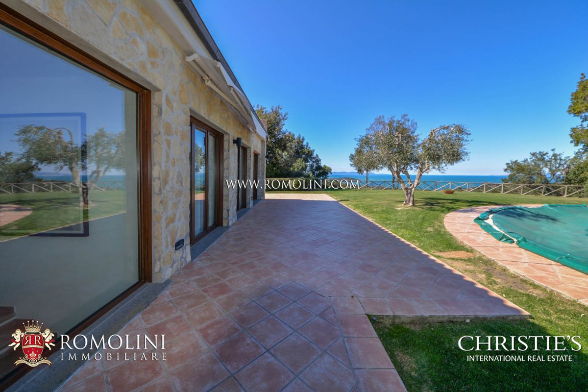 Villas / Townhouses for Sale at Tuscany - PRESTIGIOUS VILLA FOR SALE ON THE GULF OF FOLLONICA, TUSCANY Castiglione Della Pescaia, Italy
