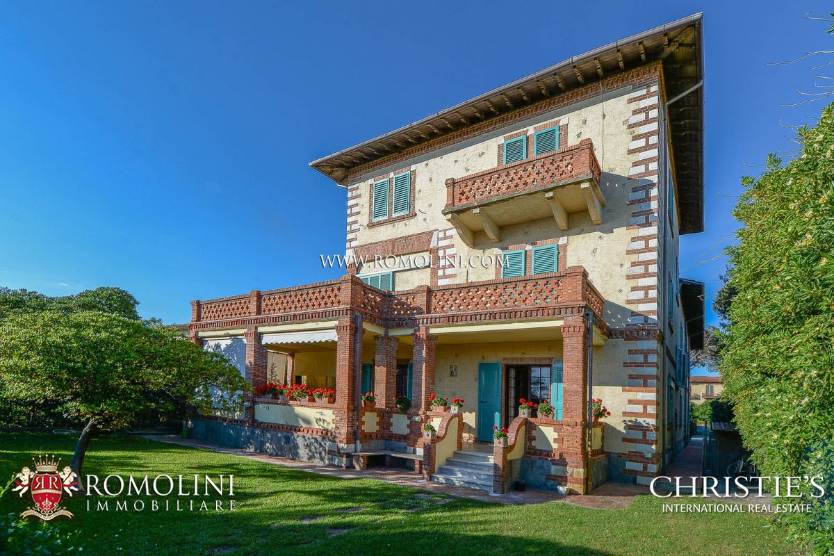 Apartments / Residences for Sale at Tuscany - VILLA ON THE SEASIDE WITH DEPENDANCE FOR SALE FORTE DEI MARMI, TUSCANY Forte Dei Marmi, Italy