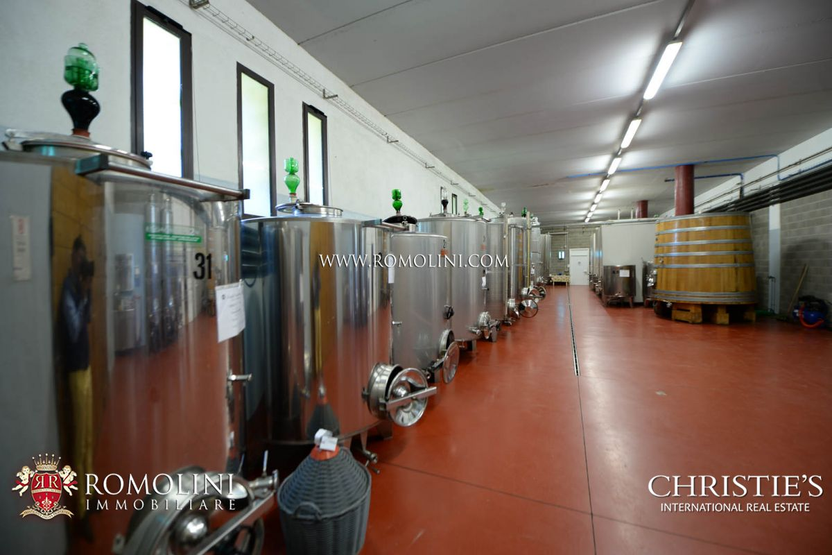 Additional photo for property listing at Tuscany - BRUNELLO DI MONTALCINO: STATE-OF-THE-ART TUSCAN WINE CELLAR FOR SALE Montalcino, Itália