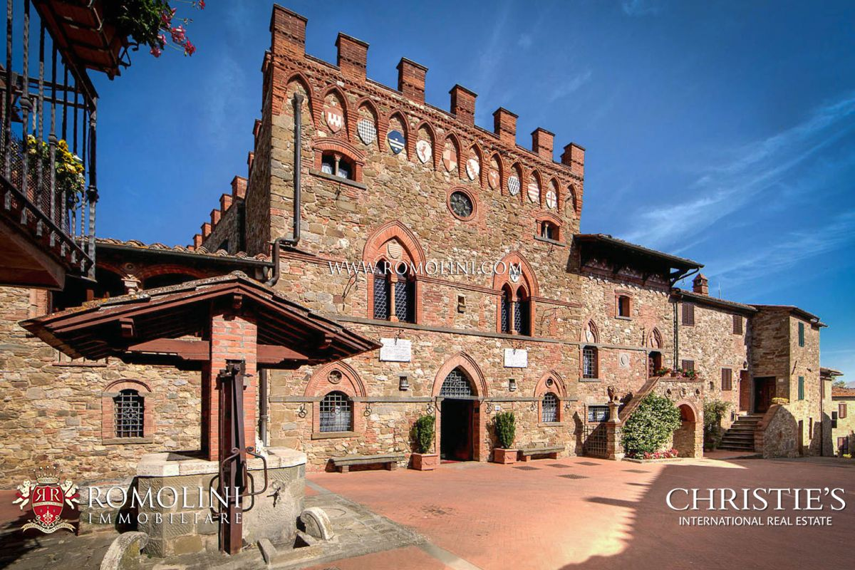 Villas / Townhouses for Sale at Tuscany - ITALIAN CASTLE FOR SALE IN THE CHIANTI WINE AREA Bucine, Italy