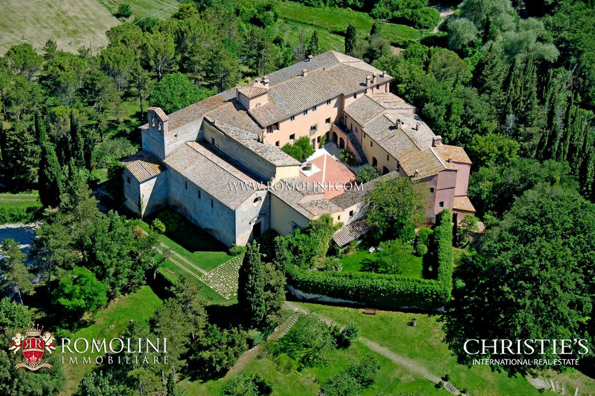 Vineyard for Sale at Tuscany - 755-HA TUSCAN ESTATE WITH OLD ABBEY AND 11 FARMHOUSES FOR SALE IN SIENA Siena, Siena Italy