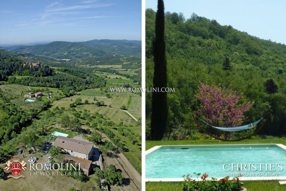 빌라 / 타운 하우스 용 매매 에 Tuscany - AREZZO FARMHOUSE WITH ANNEX AND POOL Subbiano, 이탈리아